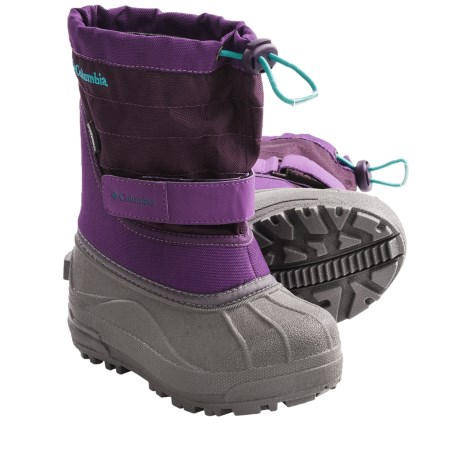 Columbia Sportswear Powderbug Plus II Snow Boots - Waterproof (For Toddlers) in Collegiate Navy/Chili