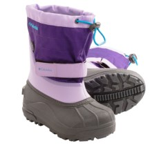 Columbia Sportswear Powderbug Plus II Snow Boots - Waterproof (For Toddlers) in Whitened Violet/Dark Compass - Closeouts