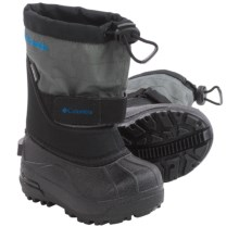 Columbia Sportswear Powderbug Plus II Snow Boots - Waterproof, Insulated (For Toddlers) in Black/Hyper Blue - Closeouts