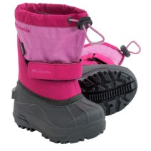 Columbia Sportswear Powderbug Plus II Snow Boots - Waterproof, Insulated (For Toddlers) in Glamour/Orchid - Closeouts