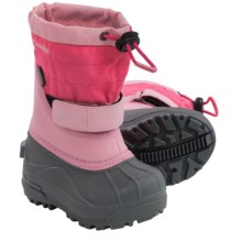 Columbia Sportswear Powderbug Plus II Snow Boots - Waterproof, Insulated (For Toddlers) in Satin Pink/Afterglow - Closeouts