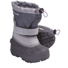 Columbia Sportswear Powderbug Plus II Winter Boots - Waterproof (For Kids) in Charcoal/Hydrangea - Closeouts