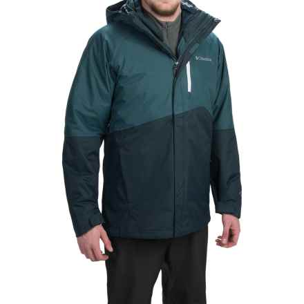 Columbia Sportswear Powderkeg Interchange Omni-Heat® Down Jacket - Waterproof, 650 Fill Power, 3-in-1 (For Men) in Everblue/Night Shadow - Closeouts