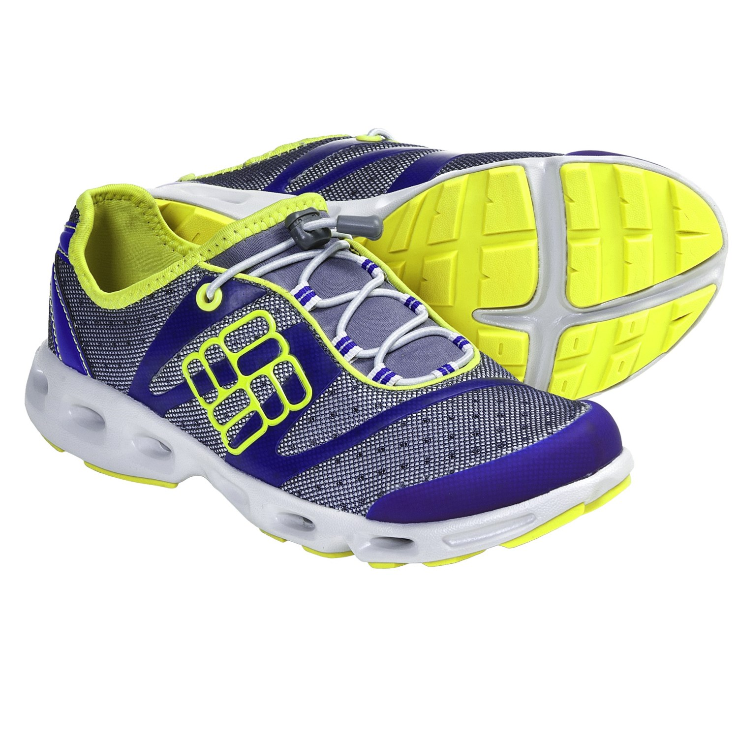 Powerdrain Water Shoes (For Women) in Charcoal/Clematis Blue
