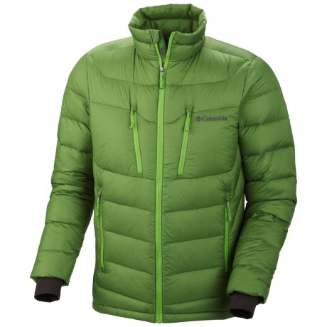 Columbia Sportswear Powerfly Down Puff Omni-Heat® Jacket - 800 Fill Power (For Men) in Dark Backcountry