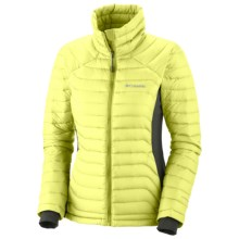 Columbia Sportswear Powerfly Hybrid Down Omni-Heat® Jacket - 800 Fill Power (For Women) in Neon Light - Closeouts