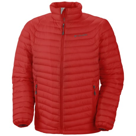 Columbia Sportswear Powerfly Omni-Heat® Down Jacket - 800 Fill Power (For Men) in Bright Red
