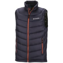 Columbia Sportswear Powerfly Omni-Heat® Down Vest - 800 Fill Power (For Men) in Ebony Blue - Closeouts