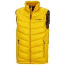 Columbia Sportswear Powerfly Omni-Heat® Down Vest - 800 Fill Power (For Men) in Gold Leaf - Closeouts