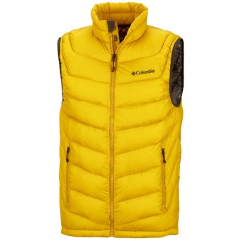 Columbia Sportswear Powerfly Omni-Heat® Down Vest - 800 Fill Power (For Men) in Gold Leaf