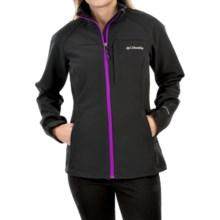 Columbia Sportswear Prime Peak Omni-Wind® Block Soft Shell Jacket (For Women) in Black/Bright Plum - Closeouts