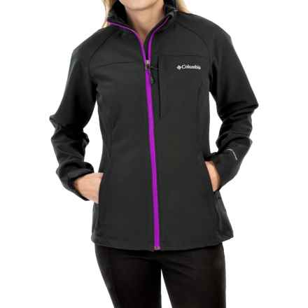 Columbia Sportswear Prime Peak Omni-Wind® Block Soft Shell Jacket (For Women) in Black/Bright Plum - Closeouts