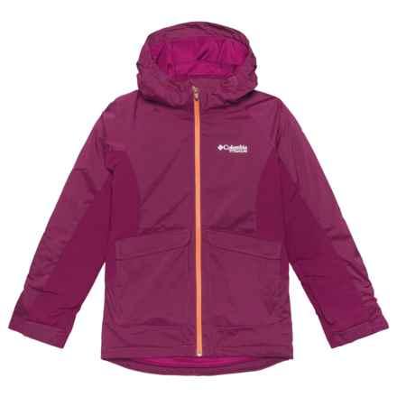 Columbia Sportswear Pro Motion Omni-Heat® Ski Jacket - Waterproof, Insulated (For Big Girls) in Dark Raspberry Heather