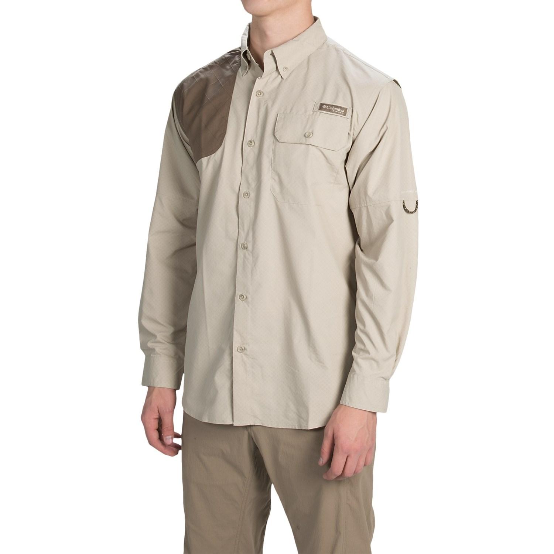 Columbia sportswear ptarmigan zero shooting shirt for men for Men s upf long sleeve shirt