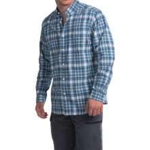 Columbia Sportswear Rapid Rivers II Shirt - Long Sleeve (For Men) in Marine Blue Square Plaid - Closeouts
