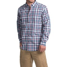 Columbia Sportswear Rapid Rivers II Shirt - Long Sleeve (For Men) in Night Tide Square Plaid - Closeouts