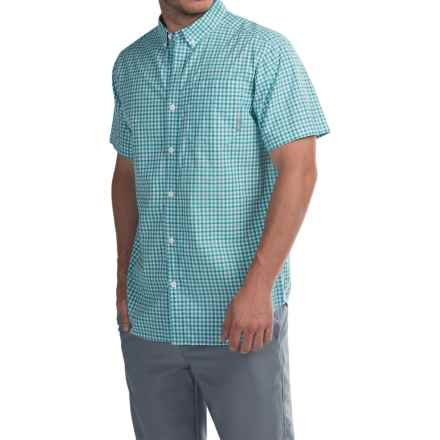 Columbia Sportswear Rapid Rivers II Shirt - Short Sleeve (For Men) in Geyser Small Plaid - Closeouts
