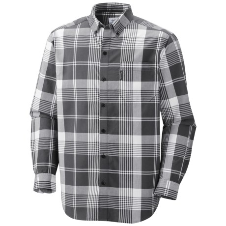 Columbia Sportswear Rapid Rivers Shirt - Long Sleeve (For Men) in Grill Plaid