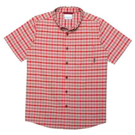 Columbia Sportswear Rapid Rivers Shirt - Short Sleeve (For Little and Big Boys) in Red Element Small Plaid