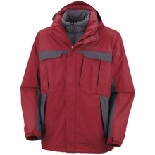 Columbia Sportswear Rare Earth Interchange Jacket - 3-in-1  (For Men) in Red Velvet/Mystery - Closeouts