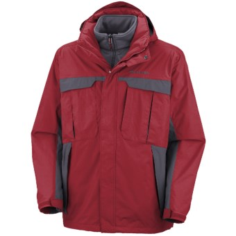 Columbia Sportswear Rare Earth Interchange Jacket - 3-in-1  (For Men) in Red Velvet/Mystery