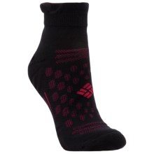 Columbia Sportswear Ravenice Micro Tab Socks - Merino Wool, Below-the-Ankle (For Women) in Black/Bright Rose - Closeouts