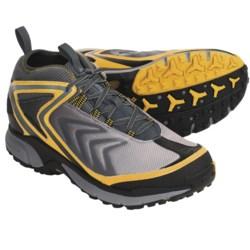 Columbia Sportswear Ravenice Trail Running Shoes - Waterproof (For Men) in Light Grey/Burnt Orange