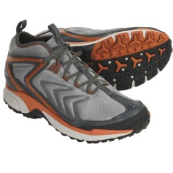 Columbia Sportswear Ravenice Trail Running Shoes - Waterproof (For Men) in Light Grey/Burnt Orange