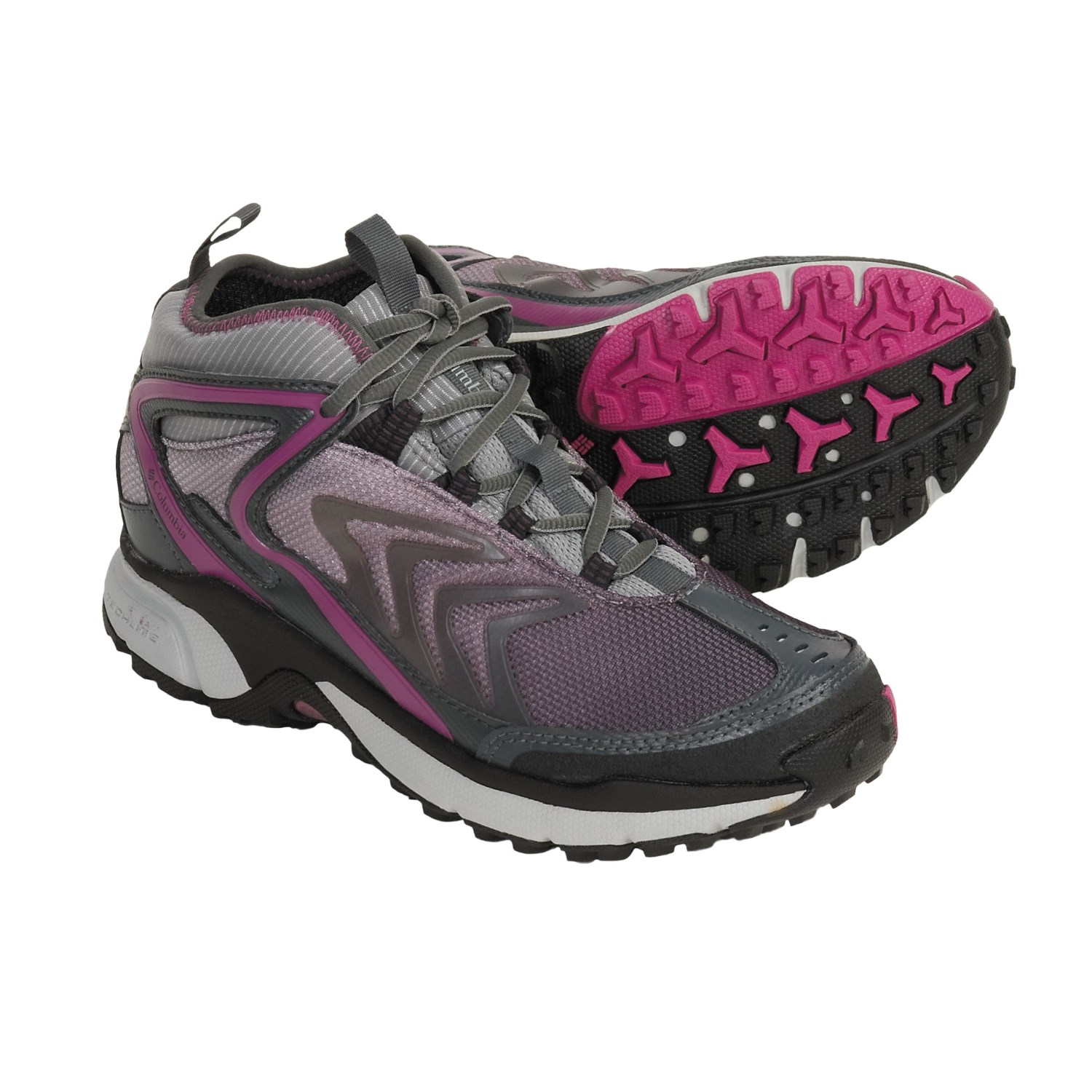 Trail Running Shoes - Waterproof (For Women) in Black Cherry/Fuschia