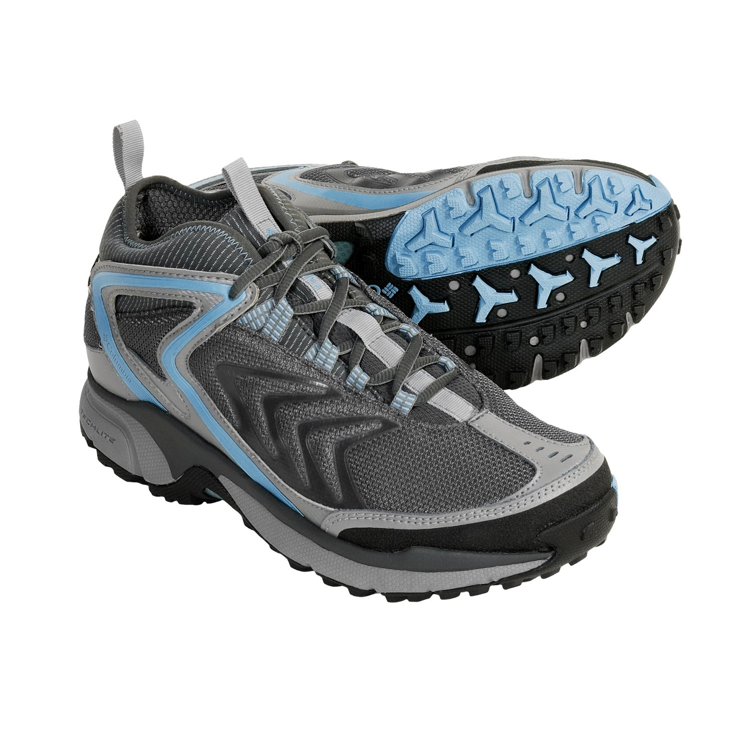 Trail Running Shoes - Waterproof (For Women) in Grill/Paradise Sky