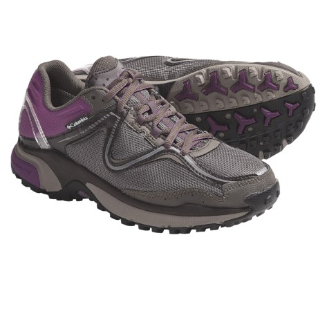 Columbia Sportswear Ravenous Omni-Tech® Trail Running Shoes - Waterproof (For Women) in Bungee Cord/Wood Violet