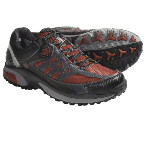 Columbia Sportswear Ravenous Stability Omni-Tech® Trail Shoes - Waterproof (For Men) in Black/Picante