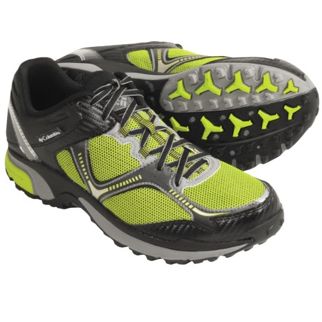 Columbia Sportswear Ravenous Trail Running Shoes (For Men) in Black/Lime Green