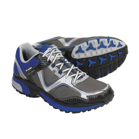 Columbia Sportswear  Ravenous Trail Running Shoes - Waterproof (For Men) in Cool Grey/Electric Avenue