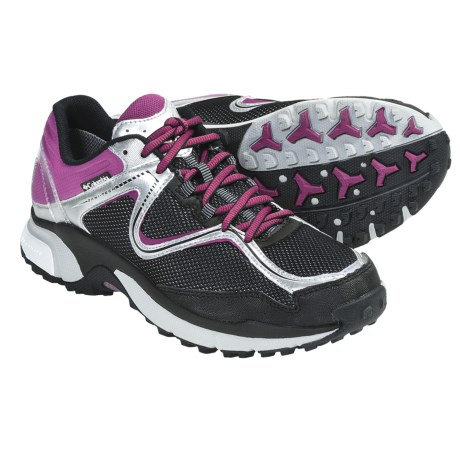 Columbia Sportswear Ravenous Trail Running Shoes - Waterproof (For Women) in Black/Begonia