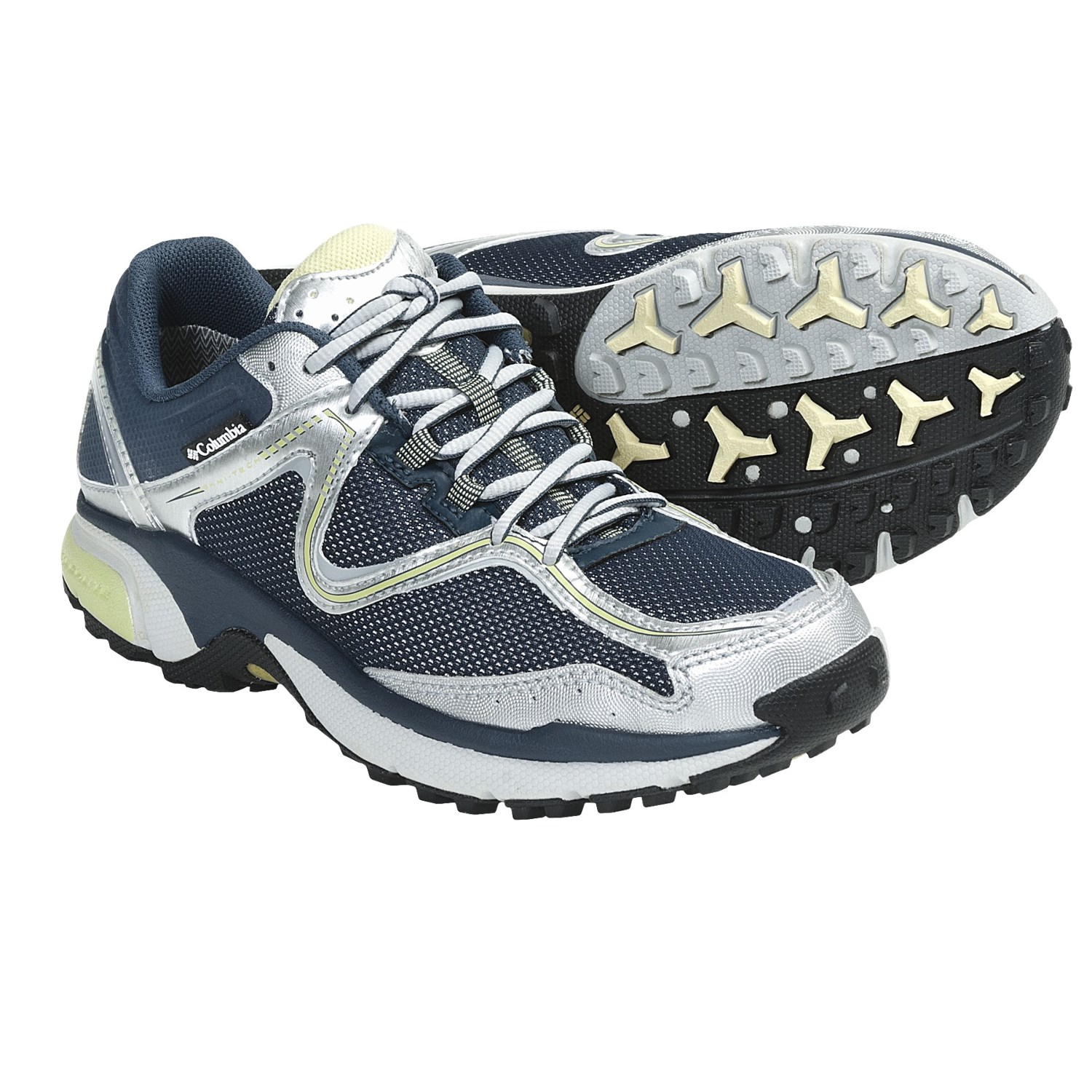 Trail Running Shoes - Waterproof (For Women) in Sea Blue/Citronelle