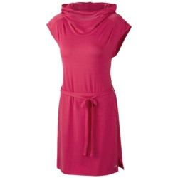 Columbia Sportswear Reel Beauty Hooded Dress - UPF 15, Short Sleeve (For Women) in Bright Rose