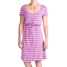 Columbia Sportswear Reel Beauty II Dress - UPF 15, Short Sleeve (For Women) in Blossom Pink Stripe - Closeouts