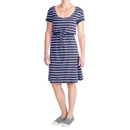 Columbia Sportswear Reel Beauty II Dress - UPF 15, Short Sleeve (For Women) in Collegiate Navy/White Stripe - Closeouts