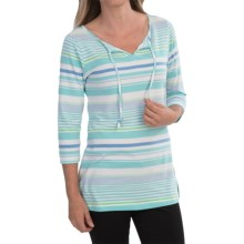 Columbia Sportswear Reel Beauty II Shirt - UPF 15, 3/4 Sleeve (For Women) in Candy Mint Stripe - Closeouts