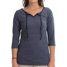 Columbia Sportswear Reel Beauty II Shirt - UPF 15, 3/4 Sleeve (For Women) in Collegiate Navy Stripe - Closeouts