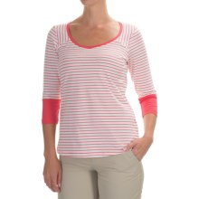 Columbia Sportswear Reel Beauty III Shirt - UPF 15, 3/4 Sleeve (For Women) in Bright Geranium Mini Stripe - Closeouts