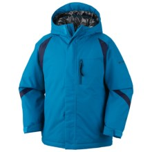 Columbia Sportswear Renegade Warmth Omni-Tech® Omni-Heat® Jacket - Waterproof (For Toddler Boys) in Compass Blue - Closeouts