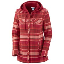 Columbia Sportswear Reverse Shred Shirt Jacket - Cotton Flannel (For Women) in Bright Red - Closeouts