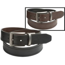 Columbia Sportswear Reversible Stitch Leather Belt (For Men) in Brown/Black - Closeouts