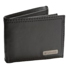 Columbia Sportswear RFID Extra-Capacity Slimfold Wallet - Leather (For Men) in Black - Closeouts