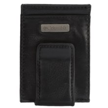 Columbia Sportswear RFID Front Pocket Wallet with Tension Clip - Leather (For Men) in Black - Closeouts