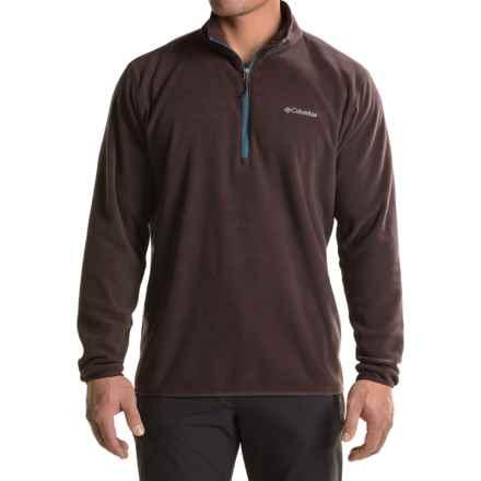 Columbia Sportswear Ridge Repeat Fleece Shirt - Zip Neck, Long Sleeve (For Big Men) in New Cinder - Closeouts