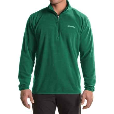 Columbia Sportswear Ridge Repeat Fleece Shirt - Zip Neck, Long Sleeve (For Big Men) in Wildwood Green - Closeouts