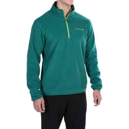 Columbia Sportswear Ridge Repeat Polartec® Fleece Shirt - Zip Neck (For Men) in Deep Water - Closeouts